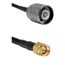 SC Male on RG142 to SMA Male Cable Assembly