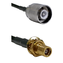 SC Male on RG142 to SMB Female Bulkhead Cable Assembly