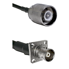 SC Male on RG400 to C 4 Hole Female Cable Assembly