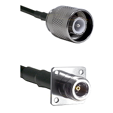 SC Male on RG400 to N 4 Hole Female Cable Assembly