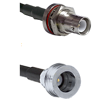 SHV Bulkhead Jack on LMR-195-UF UltraFlex to QN Male Cable Assembly