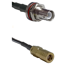 SHV Bulkhead Jack on LMR-195-UF UltraFlex to SLB Female Cable Assembly
