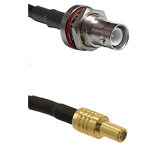 SHV Bulkhead Jack on LMR-195-UF UltraFlex to SLB Male Cable Assembly