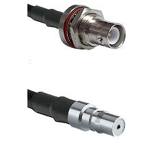 SHV Bulkhead Jack on LMR200 to QMA Female Cable Assembly