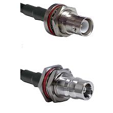 SHV Bulkhead Jack Connector On LMR-240UF UltraFlex To QN Female Bulkhead Connector Coaxial Cable Ass