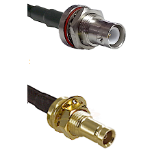SHV Bulkhead Jack on RG142 to 10/23 Female Bulkhead Cable Assembly