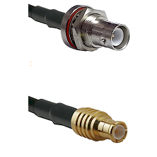 SHV Bulkhead Jack on RG142 to MCX Male Cable Assembly