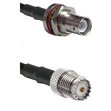 SHV Bulkhead Jack on RG400 to Mini-UHF Female Cable Assembly