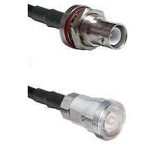 SHV Bulkhead Jack on RG58C/U to 7/16 Din Female Cable Assembly