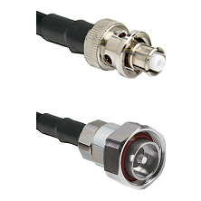 SHV Plug on Belden 83242 RG142 to 7/16 Din Male Cable Assembly