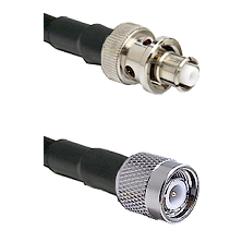 SHV Plug on Belden 83242 RG142 to TNC Male Cable Assembly