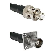 SHV Plug on LMR-195-UF UltraFlex to C 4 Hole Female Cable Assembly
