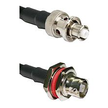 SHV Plug on LMR-195-UF UltraFlex to C Female Bulkhead Cable Assembly