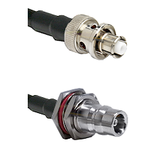 SHV Plug on LMR-195-UF UltraFlex to QN Female Bulkhead Cable Assembly