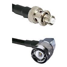 SHV Plug on LMR-195-UF UltraFlex to C Right Angle Male Cable Assembly