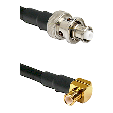 SHV Plug on LMR-195-UF UltraFlex to MCX Right Angle Male Cable Assembly