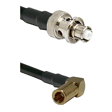 SHV Plug on LMR-195-UF UltraFlex to SLB Right Angle Female Cable Assembly