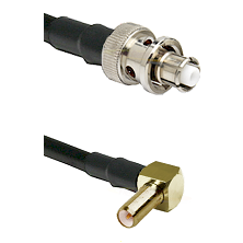 SHV Plug on LMR-195-UF UltraFlex to SLB Right Angle Male Cable Assembly