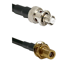 SHV Plug on LMR-195-UF UltraFlex to SLB Female Bulkhead Cable Assembly