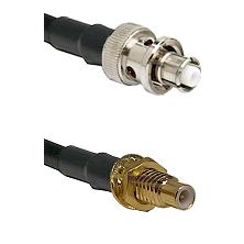 SHV Plug on LMR-195-UF UltraFlex to SMC Male Bulkhead Cable Assembly