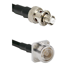 SHV Plug on LMR200 UltraFlex to 7/16 4 Hole Female Cable Assembly