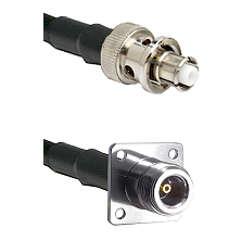 SHV Plug on LMR200 UltraFlex to N 4 Hole Female Cable Assembly