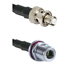 SHV Plug on LMR200 UltraFlex to N Female Bulkhead Cable Assembly