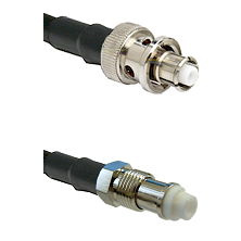 SHV Plug on RG142 to FME Female Cable Assembly
