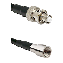 SHV Plug on RG142 to FME Male Cable Assembly