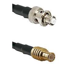 SHV Plug on RG142 to MCX Male Cable Assembly