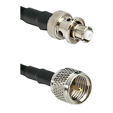 SHV Plug on RG142 to Mini-UHF Male Cable Assembly