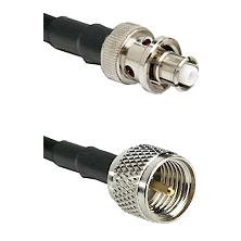 SHV Plug on RG142 to Mini-UHF Male Cable Assembly