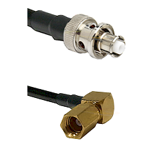 SHV Plug on RG223 to SSMC Right Angle Female Cable Assembly
