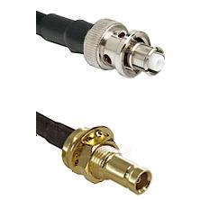SHV Plug on RG58C/U to 10/23 Female Bulkhead Cable Assembly