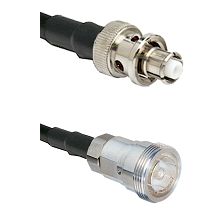 SHV Plug on RG58C/U to 7/16 Din Female Cable Assembly