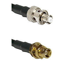 SHV Plug on RG58C/U to MCX Female Bulkhead Cable Assembly