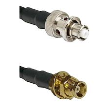 SHV Plug on RG58C/U to MCX Female Bulkhead Cable Assembly