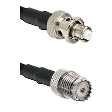 SHV Plug on RG58 to Mini-UHF Female Cable Assembly