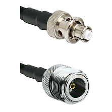 SHV Plug on RG58C/U to N Female Cable Assembly