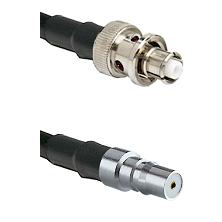 SHV Plug on RG58C/U to QMA Female Cable Assembly