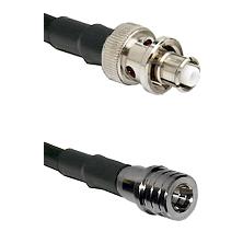 SHV Plug on RG58C/U to QMA Male Cable Assembly