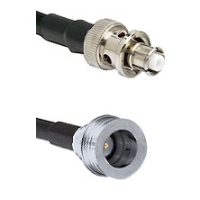 SHV Plug on RG58C/U to QN Male Cable Assembly