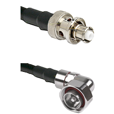 SHV Plug on RG58C/U to 7/16 Din Right Angle Male Cable Assembly