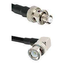 SHV Plug on RG58C/U to BNC Right Angle Male Cable Assembly