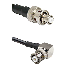 SHV Plug on RG58C/U to MHV Right Angle Male Cable Assembly