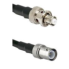SHV Plug on RG58C/U to BNC Reverse Polarity Female Cable Assembly