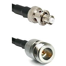SHV Plug on RG58C/U to N Reverse Polarity Female Cable Assembly