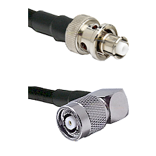 SHV Plug on RG58C/U to TNC Reverse Polarity Right Angle Male Cable Assembly