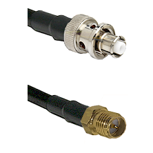 SHV Plug on RG58C/U to SMA Reverse Polarity Female Cable Assembly