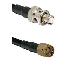 SHV Plug on RG58C/U to SMA Reverse Polarity Male Cable Assembly